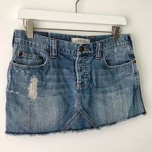 🍍Roxy Denim Distressed Cutoff Short Skirt